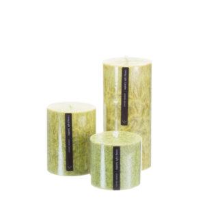 Living Light Pillar Candles Lemon Grass Scented